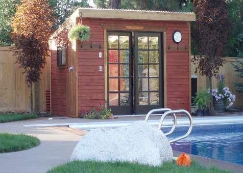 Cedar Sarawak shed 8x12 with French double doors in Spokane, Washington. ID number 39400-1