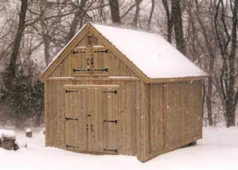 Cedar Telluride Shed 12x16 with workshop windows in Bedford, New York. ID number 984-2