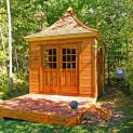 Cedar Melbourne Shed 10 x 10 with double arched doors in Traverse City, Missouri. ID number 42626-1