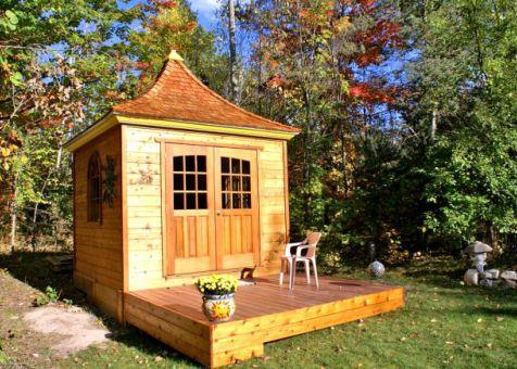 Cedar Melbourne Shed 10 x 10 with double arched doors in Traverse City, Missouri. ID number 42626-2