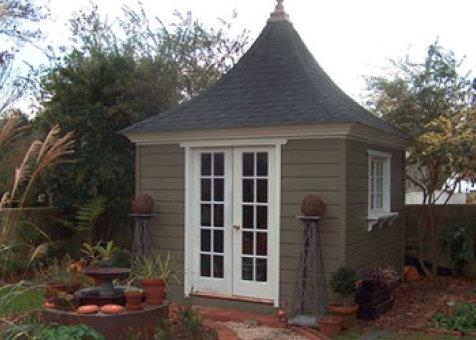 Cedar Melbourne shed 10 x 10 with French double doors in Edenton, North Carolina. ID number 1083-2