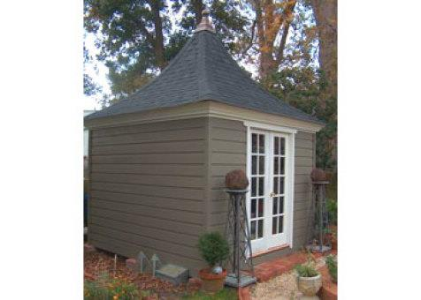 Cedar Melbourne shed 10 x 10 with French double doors in Edenton, North Carolina. ID number 1083-3