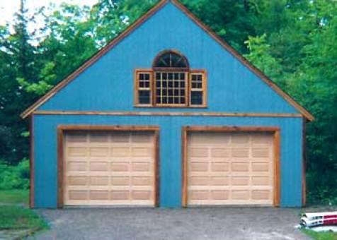 York garage designs 24x24 with fan arch window in Mississauga,Ontario.ID number 1252-2.