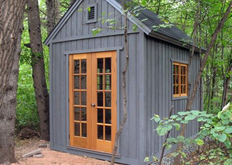 Cedar Telluride Shed 8x12 with French double doors in Winnipeg, Manitoba. ID number 104486-1