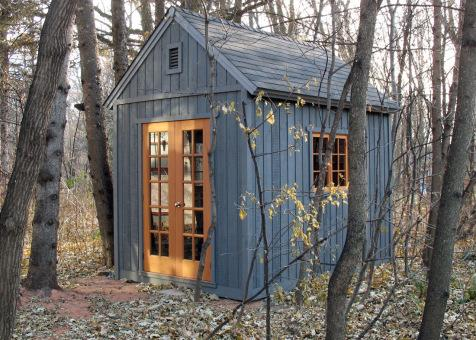 Cedar Telluride Shed 8x12 with French double doors in Winnipeg, Manitoba. ID number 104486-4