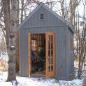 Cedar Telluride Shed 8x12 with French double doors in Winnipeg, Manitoba. ID number 104486-3