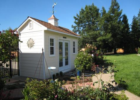 Cedar Palmerston shed 6x14 with French double doors in Roseville, California. ID number 109757-5
