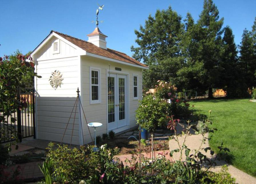 Traditional Palmerston Garden Shed In Roseville California