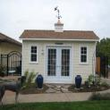 Cedar Palmerston shed 6x14 with French double doors in Roseville, California. ID number 109757-1