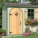 Canexel Sarawak shed 3x8 with arched single door in Nestleton, Ontario. ID number 115614-3
