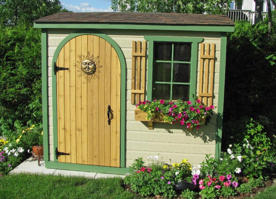 compact sarawak shed kit in nestleton ontario