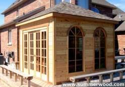 Soja spa enclosure 11x11 with pane arch window in Mississauga,Ontario.ID number 1309-2.