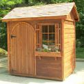 Palmerston shed kit 5x7 with arched single door in McLean Virginia. ID number 128807-1.
