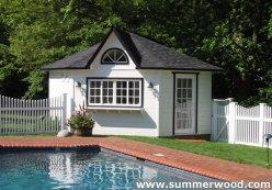 Cedar catalina pool house 14ft with dormer in Mississauga Ontario. ID number 153-10.