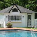 Cedar catalina pool house 14ft with dormer in Mississauga Ontario. ID number 153-2.
