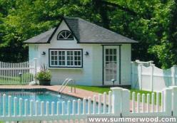 Cedar catalina pool house 14ft with dormer in Mississauga Ontario. ID number 153-3.
