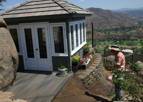Coventry spa enclosure 10x10 with painted finish in El Cajon,California.ID number 152813-1.