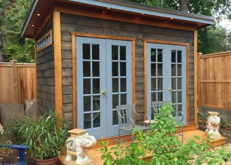 cedar urban studio shed 7x12 with french double doors in nyack new york