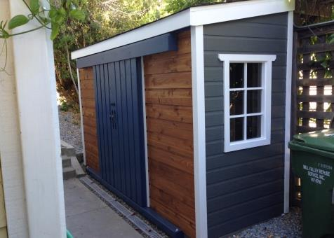 4x12 Sarawak Backyard Shed In Mill Valley California