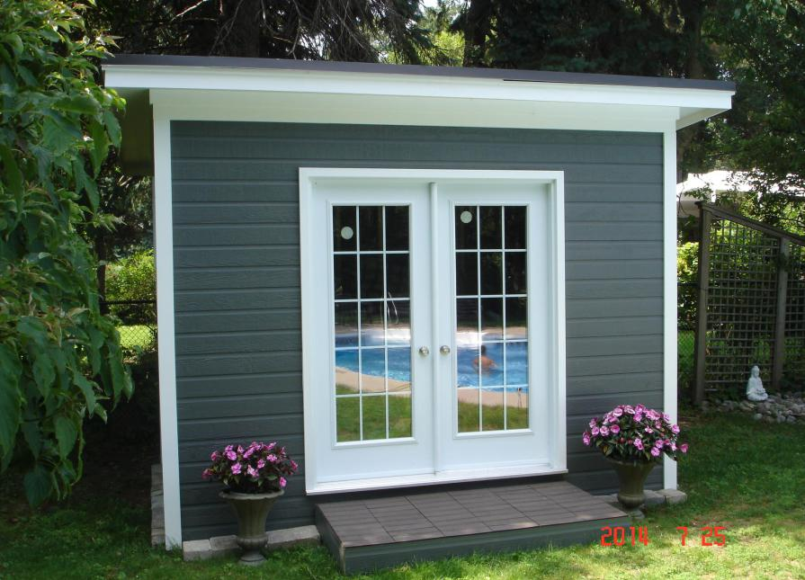 Flat Roof 8x12 Urban Studio Shed In Mississauga Ontario