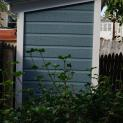 Canexel blue Sarawak shed 3x6 with concealed single door in Washington DC. ID number 181389-2