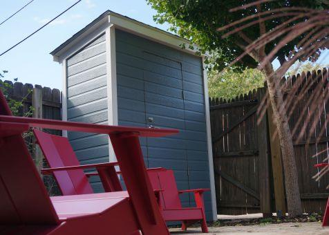 Canexel blue Sarawak shed 3x6 with concealed single door in Washington DC. ID number 181389-3