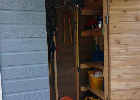 Canexel blue Sarawak shed 3x6 with concealed single door in Washington DC. ID number 181389-4