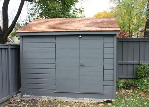 Cedar Sarawak shed 5x10 with concealed double doors in Toronto, Ontario. ID number 182416-3