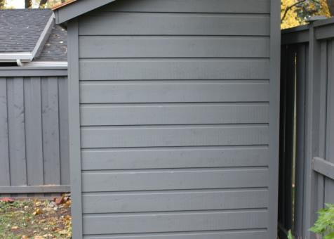 Cedar Sarawak shed 5x10 with concealed double doors in Toronto, Ontario. ID number 182416-2
