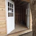 Telluride shed plan 8x12 with Double deluxe 18-lite doors in Los Angeles California. ID number 18451