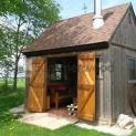 Vintage Prefab Telluride Shed 12 X 12 with six windows in Essex Ontario. ID number 189719-4