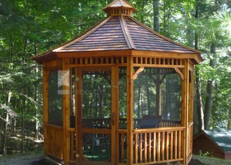 Monterey gazebo 11ft with a Cedar shingles in Burk's Falls Ontario. ID number 192804-1.