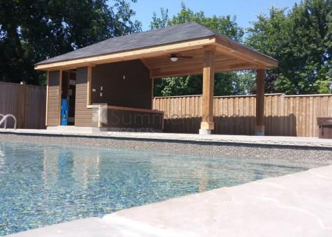 Surfside Pool Cabana 11x24 With Deluxe Single Door In