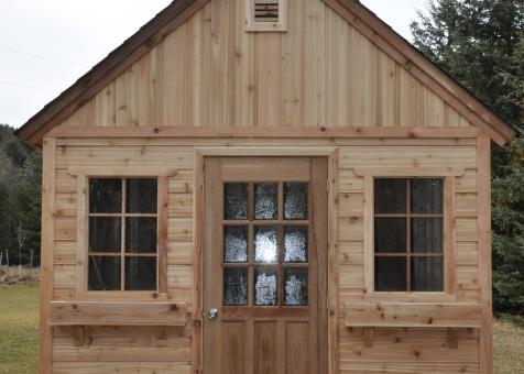 ID Number 198109; Cedar Telluride Storage Shed 10x12 With Wood Vents In  Toronto, Canada