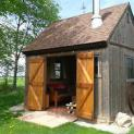 Telluride cabin 12x12 with double doors in Essex Ontario. ID number 189719-2. Telluride cabin 12x12