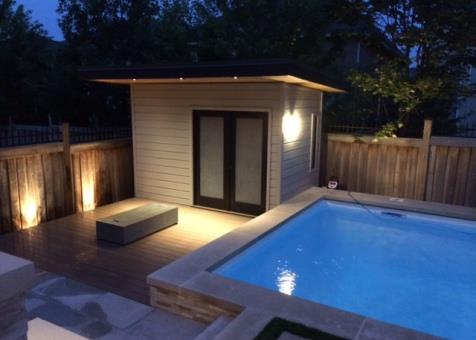Verana pool cabana 7x12 with french double doorsin  Oakville Ontario. ID number 176695-1.