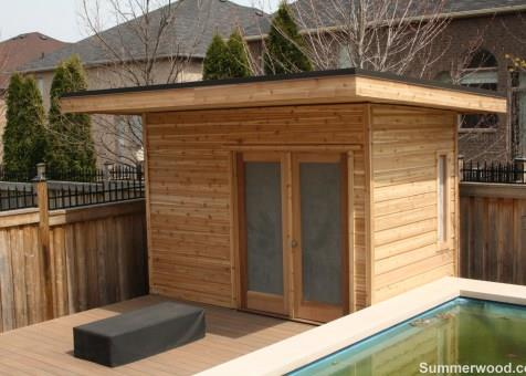 Verana pool cabana 7x12 with french double doorsin  Oakville Ontario. ID number 176695-2.
