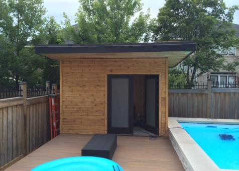 Verana pool cabana 7x12 with french double doorsin  Oakville Ontario. ID number 176695-3.