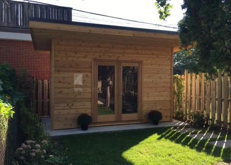 cedar verana home studio 7 x 14 with french double doors in toronto ontario - Garden Sheds 7 X 14