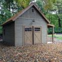 Cedar Montcrest Garage 14x24 with Cedar Shingles in Garrison New York -206907-2
