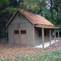 Cedar Montcrest Garage 14x24 with Cedar Shingles in Garrison New York -206907-1