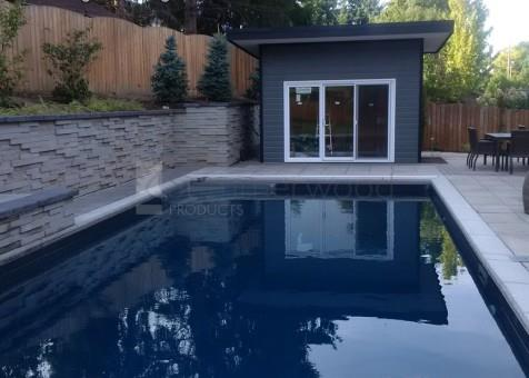 Cedar Verana Pool Cabana 8 x 13 with Canexel Granite Siding in Waterloo Ontario -207481-2