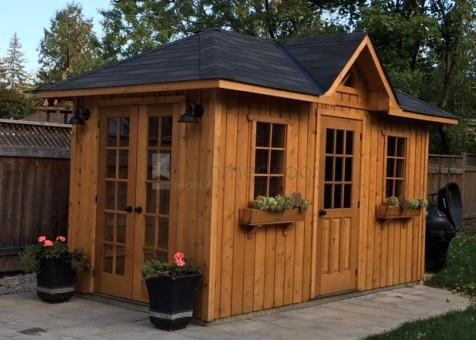 cedar sonoma garden shed 7 x 14 with cedar siding rough siding in mississauga ontario - Garden Sheds 7 X 14