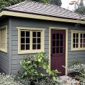 Cedar Sonoma Garden Shed 8 x 14 with small bifold window in Oakland California ID number- 208046-1