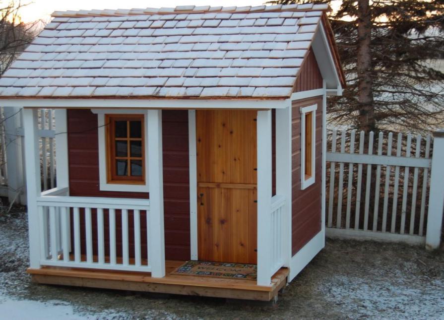 Peach Pickers Porch Playhouse Kit With Cedar Shingles And D19 Playhouse  Dutch Door In Fairfax,