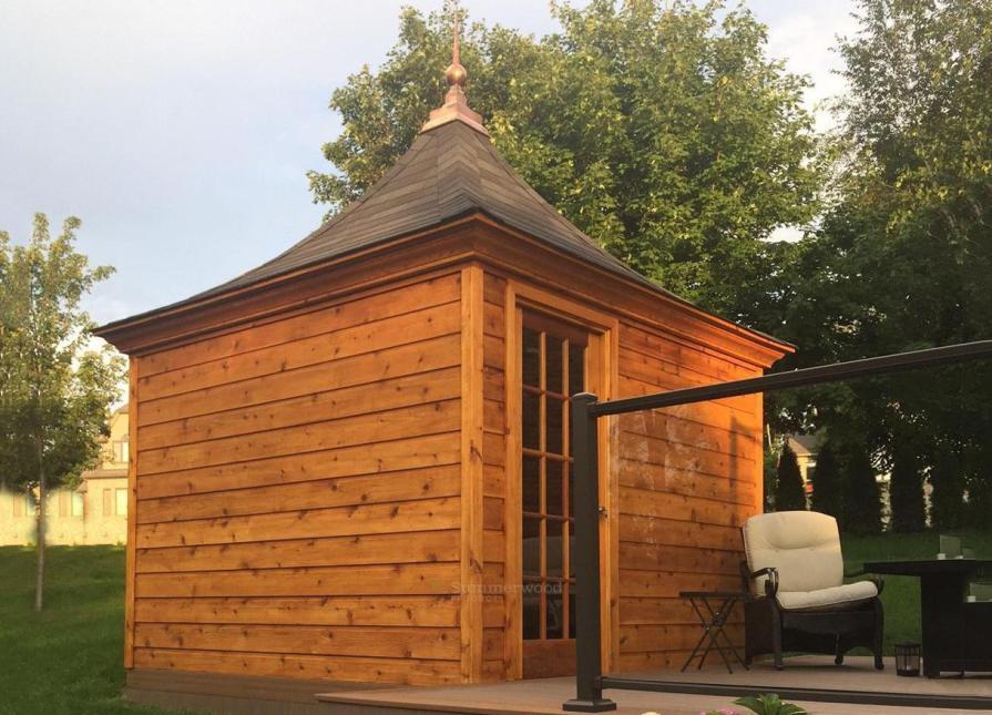 Melbourne Cedar garden shed in Seattle, Washington