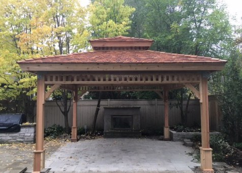 Cedar Montpellier 14ft x 14ft Gazebo located in Toronto, ON. ID number 220818