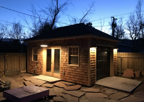 Cedar archer 12x20 garage with double french doors in Colorado Springs, Colorado. ID number 222238-1