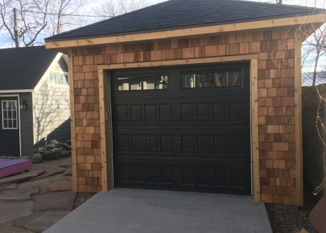 Cedar archer 12x20 garage with double french doors in Colorado Springs, Colorado. ID number 222238-2
