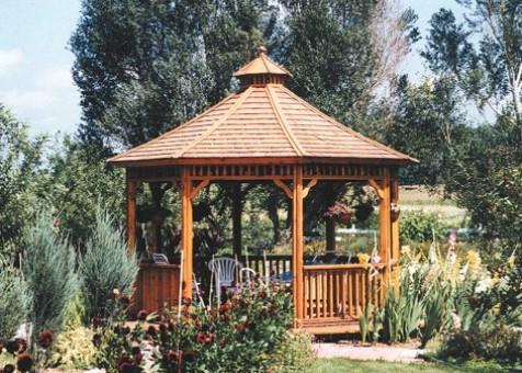 Monterey gazebo 14ft with roof in San Francisco California. ID number 261-1.